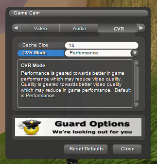 Cached Video Recording