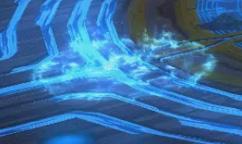 青碧の炎の床