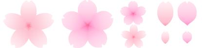 桜の花 アイコン素材